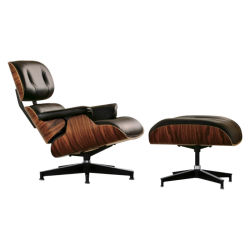 Leather Lounge Eames Chair With Ottoman For Living Room