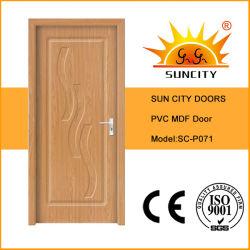 Wholesale Low Price Single MDF PVC Doors Sc-P071