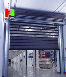 Automation Turbine Motor High Speed Industrial Perforated Roller Shutter Door (Hz-FC033)