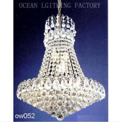 Traditional Antique Classic Luxury Silver Crystal Chandeliers Pendant Lamp Ow146