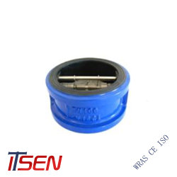 DIN/ANSI Cast/Ductile Iron Dual Plate Wafer Type Check Valve