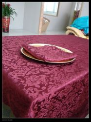 Table Cloth Tablecloth Luxury Polyester Table Cover Oilproof Wedding Party Restaurant Banquet Home Decoration