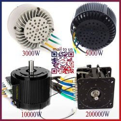 Ce Ful 3kw 20kw Brushless Dc Light Weight Electric Car Motor