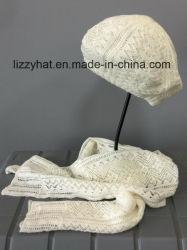 Fashion Crochet Knitted Wool/Acrylic Hat/Scarf Set
