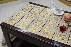 50cm Width Lace Crochet PVC Gold/Silver Tablecloth (JFBD014)
