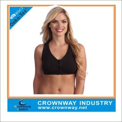 Custom Most Supportive Ladies Sexy Sports Bra with Front Zipper
