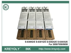 Kreyoly Brand Black Color Ink Cartridge Replacement for Riso ComColor 3050//7050//9050 with chip S-6300G//E