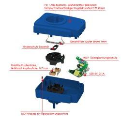 EU OEM ODM Surge USB Travel Power Adapter