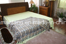 Woven Woolen Pure Merino Wool Fringed Throw (NMQ-WT045)