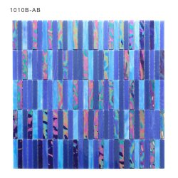 Wholesale Luxury Blue Color Stained Glass Mosaic Tile 3mm