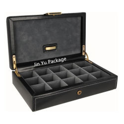 Magnetic Wooden Gift Jewelry Cufflinks Packaging Boxes Wholesales