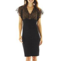 Lace Bodice Bonded Dress/Lace Dress/Women Clothes