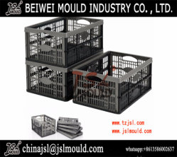 Injection Plastic Foldable Folding Flat Basket Crate Mould