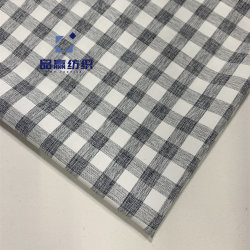 Ym2049 Spandex Checks Stretch 93GSM Polyester Elastic Cationic Fabric for Sports