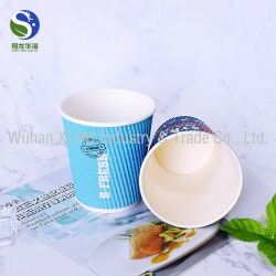 Fashion Design Double Wall Disposable Printed Paper Coffee Cup Price