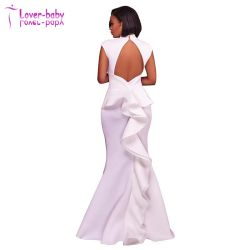 Trendy White Dress Woman Sexy Evening Clothes (L5028)