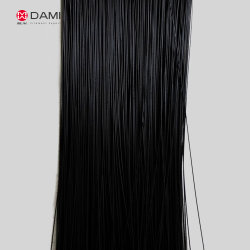 High Quality Black Color 100% Pure Virgin Soft Straight Solid Chemical Tapered False Artificial PBT Eyelash Filament for Eyelash Making