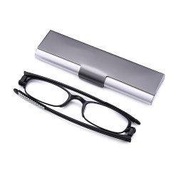 6129e2d09c6 Ultra Light 90 Degree Rotation Folding Men Women Slim Frame Foldable Reading  Glasses