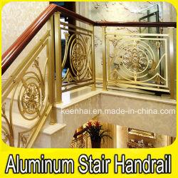 Luxury Villa Staircase Aluminum Brass Stair Handrails