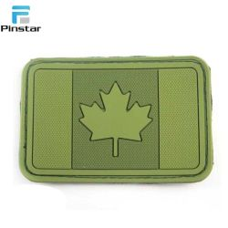 Amy Green Tactical Mlilitary Morale PVC Canda Flag Hook & Loop Patch