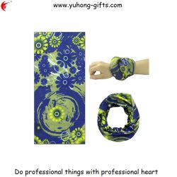 Womens Biker Headbands Blue Petal Logo (YH-HS169)