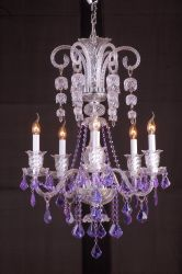 Decoration Glass Chandelier Tiffany Lighting (QD005-6L)