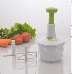 2019 multi function hand chopper manual rope food processor silcer.