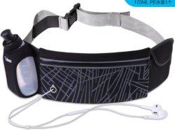 Travel Reflective Belt Hiking Running Sports Waist Bum Bag with Water Bottle Holder