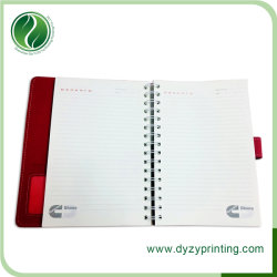 PU Leather Notebook Printing for Office Supply, School Supply