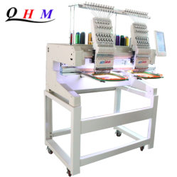 High Speed Double 2 Head Flat Cap Embroidery Computerised Hat Sewing Machine