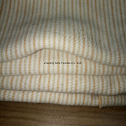 Natural Colored Cotton Striped Fabric/Colored Cotton Double Layer Cloth/100% Cotton Knitted Fabric