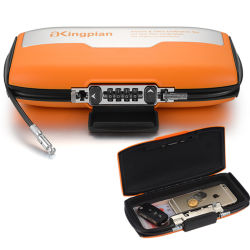 Portable Combination Storage Box with Cable for Sports