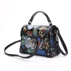 Factory Price Fashion Design New Colletion Cow Leather Handbag Leather Purse  for Ladies 9656a293b401b