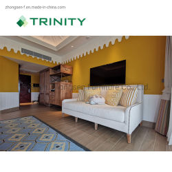 Custom Made Modern Commercial Wooden Hotel Bedroom Living Room Furniture for 5 Star Hospitality Resort Villa Apartment