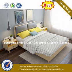 Living Room Furniture Solid Wood Double Bed Wholesale (HX-8NR0635)