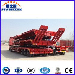 China White 3axles Excavator Transport Gooseneck Lowboy/Low Bed/Lowbed Semi Truck Trailer