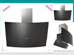 600-90mm Tempered Glass Cover Kitchen Cooking Hood with Stainless Steel Panel (RC1006)