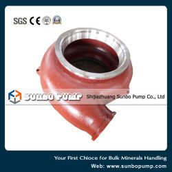 High Chrome Alloy Wear Resistance Centrifugal Slurry Pump Spare Parts Back Liner Frame Plate Liner Insert