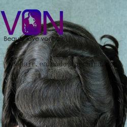 Von Hair Toupee Swiss Lace with PU Around Brazilian Hair