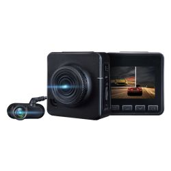 Two Channel Car DVR Digital Video Recorder with Front Full HD 1080P and Backup Camera 720p Dual Dash Cam