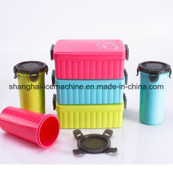 Best Price Kids Plastic Lunch Box with Bottle Made in China