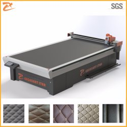 CNC Knife Cutting Machine for Leather Foot Mat No Laser Dieless 2516