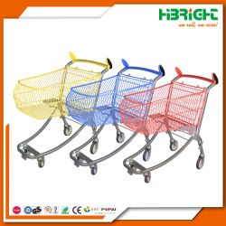 Plastic Sprayed Metal Supermarket Hand Cart Shopping Trolleys