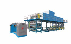 Printing Machine, 3-Plate Surface Treatment Units for Wallpaper/Wall Fabric, PU/PVC Leather Surface Treater