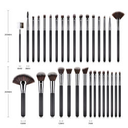 Premium Make up Cosmetic Brush Makeup Brush Set for Foundation Blending Blush Concealer Eye Shadow, Cruelty-Free Synthetic Fiber Bristles, Rose Golden