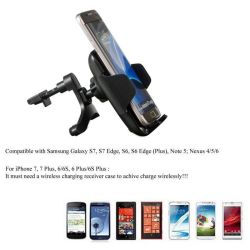 Fast Air Vent Car Mount Phone Holder Wireless Charger for Samsung iPhone