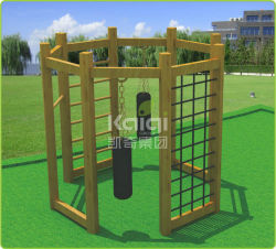 Kaiqi Wooden Outdoor Playground Individual Set with Climbing Case and Boxing Bags (KQ60089A)