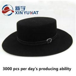 Factory Popular Custom Design Wool Felt Flat-Top Hat d14fb9c6612d