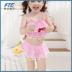 a3b6b31787 2018 Pink Cute Sweet Pompom Kids New Children's Two Pieces Swimwear Bikini
