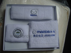 Car Promotion Events Executive Business Gift Box Packing Sports Towel Sweat Band Watch Gift Set